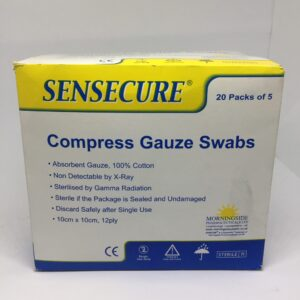 Compress Gauze Swabs now available in Nigeria. Place your order now on Clinicaid.com.ng