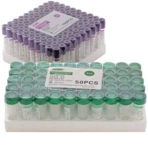EDTA K3 VACCUM GLASS TUBE - PURPLE (PACK OF 50 PIECES) 14 Clinicaid.com.ng
