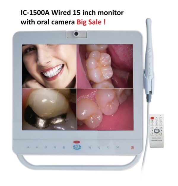 IC-1500A Wired 15 inch Monitor with Oral Camera