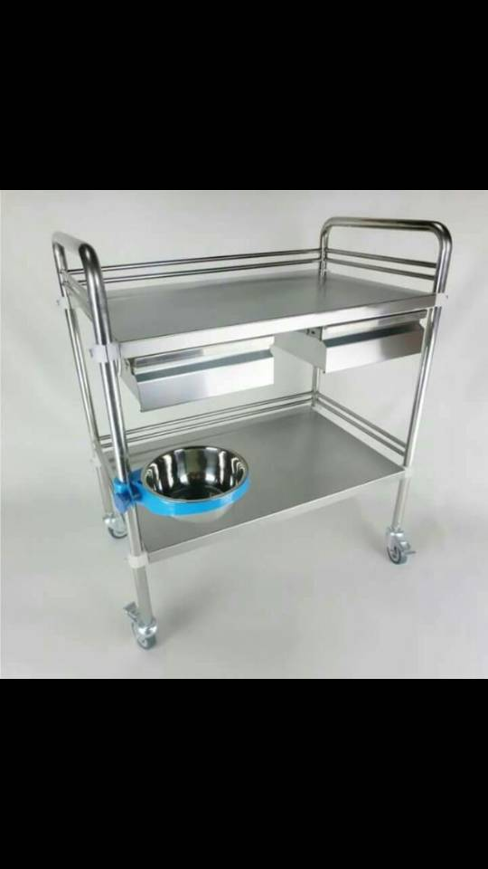 Instrument Trolley with Cabinet 1 Clinicaid.com.ng