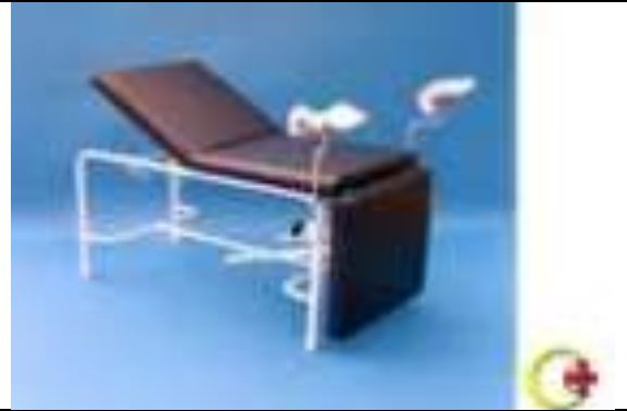 Gynae Couch (2 sections, lithotomy poles & straps) 1 Clinicaid.com.ng
