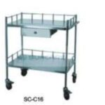 Dressing Trolley (2 stainless steel shelves) 2 Clinicaid.com.ng