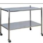 Dressing Trolley (2 stainless steel shelves) 1 Clinicaid.com.ng