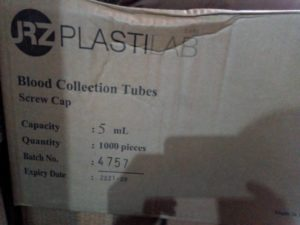 Plastilab Blood collection tubes. Carton price